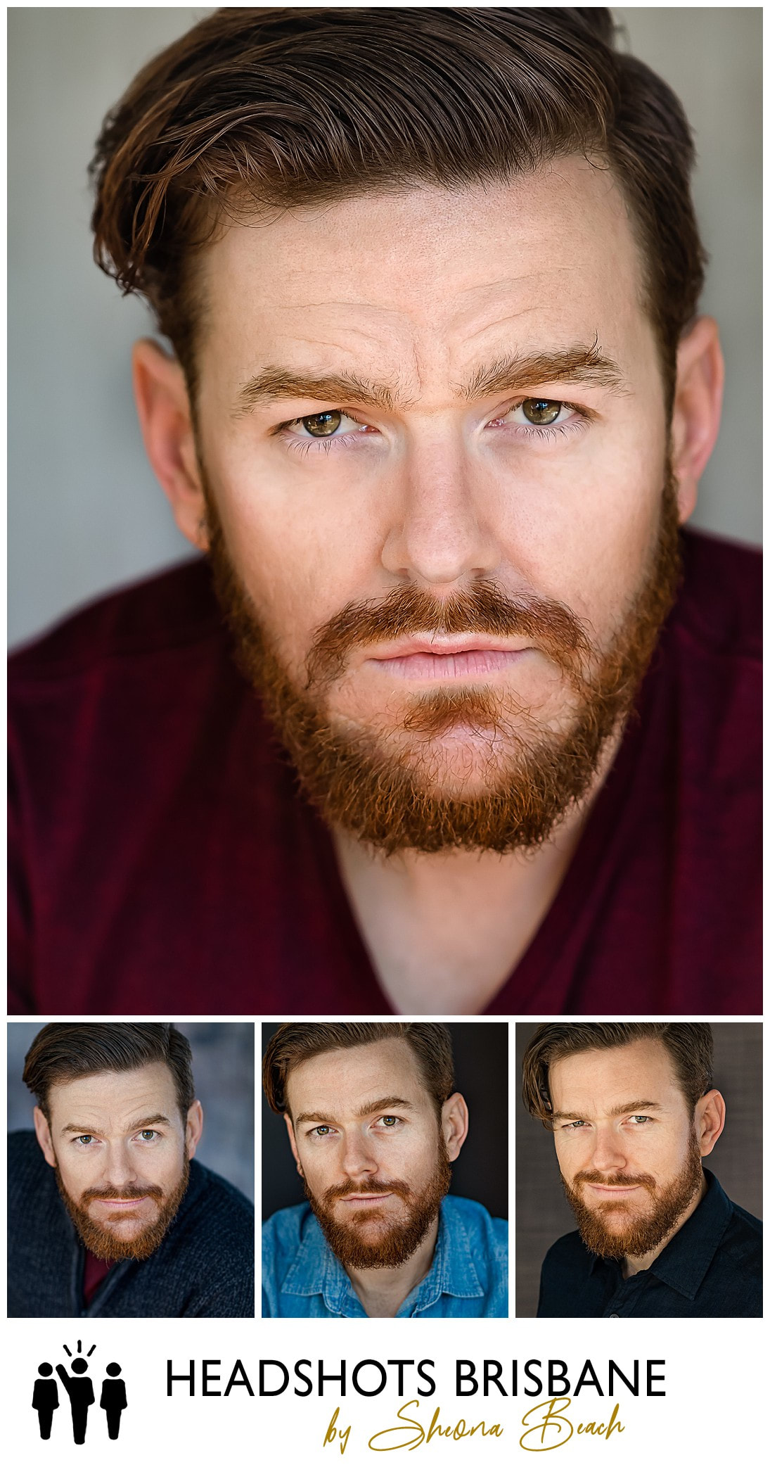 Male actor headshot photograph in Brisbane