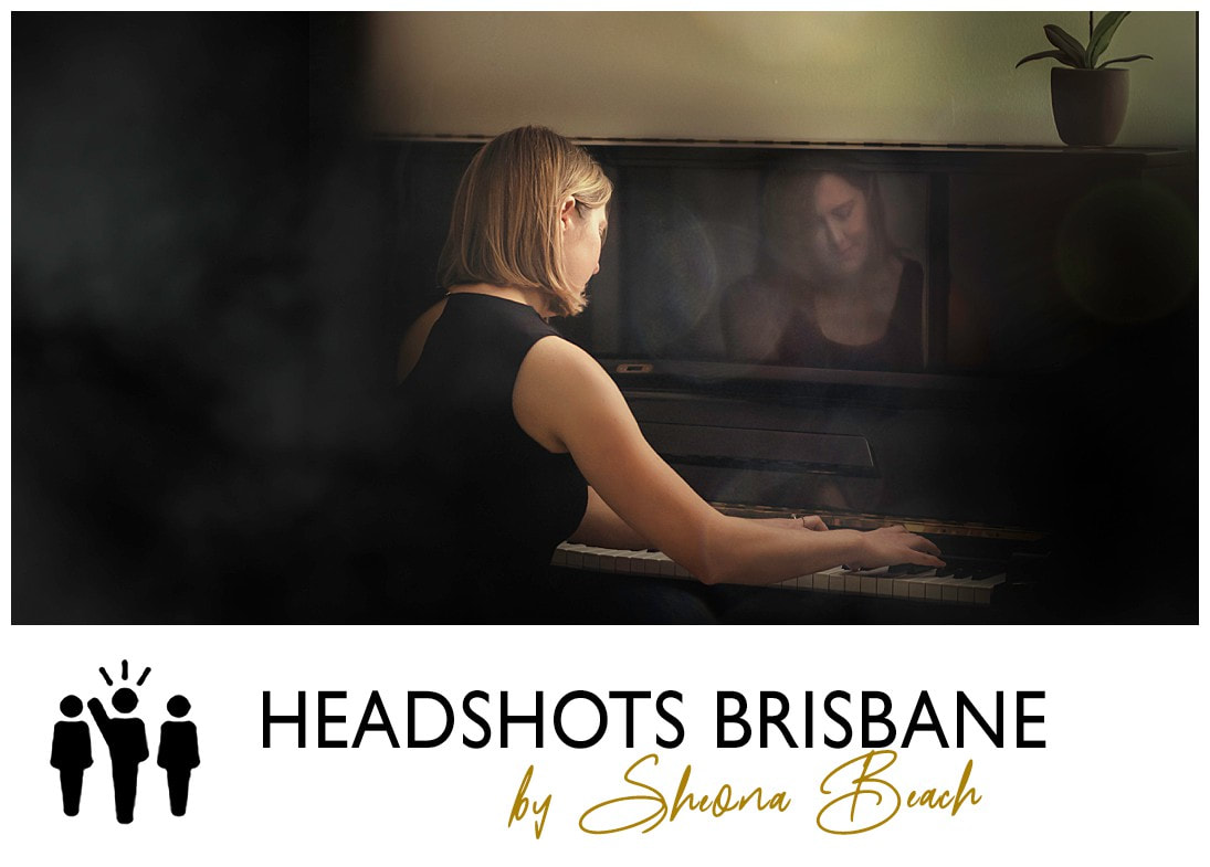 Portrait of female pianist by Brisbane photographer